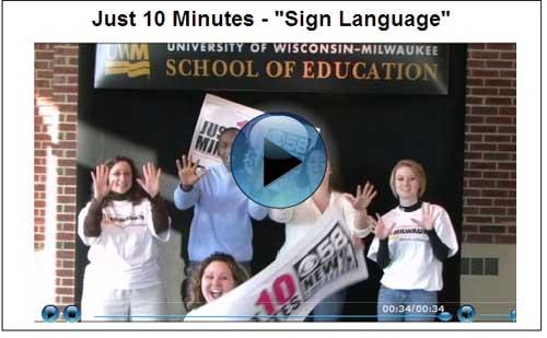 "Just 10 Minutes - ""Sign Language"""