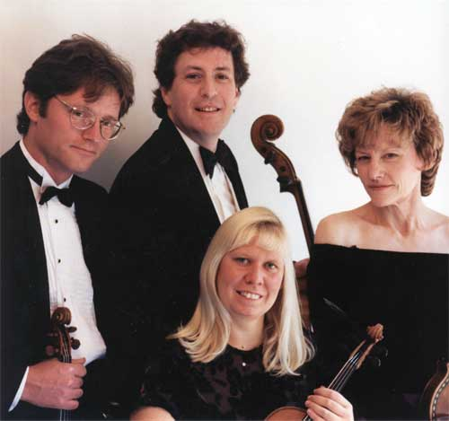 Left to right: Violinist David Perry, cellist Parry Karp, violinist Suzanne Beia and violist Sally Chisholm.
