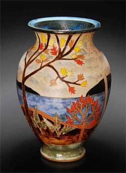 Ceramic Vase by David and Jeanne Aurelius