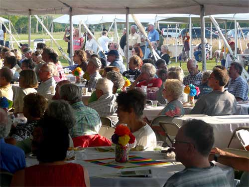Door County Land Trust's annual membership gathering at the Liberty Grove Historical Society property adjacent to the new Grand View Scenic Overlook and Park in Ellison Bay
